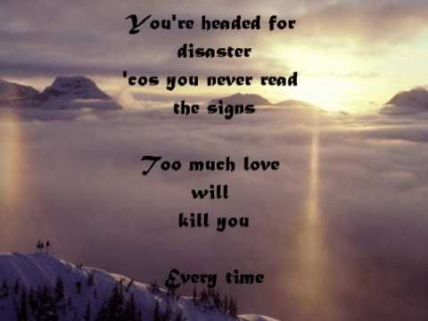 Queen - Too much love will kill you (Testo-lyrics on screen)