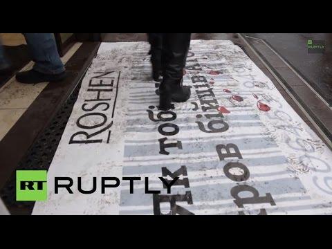 Ukraine: 'Stop profitting from Russia, Poroshenko!' - protesters demand