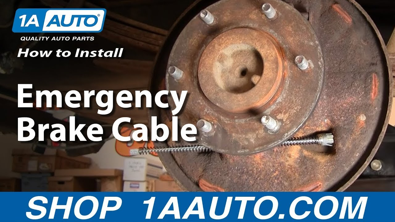 how to install replace emergency brake cable 1aauto com