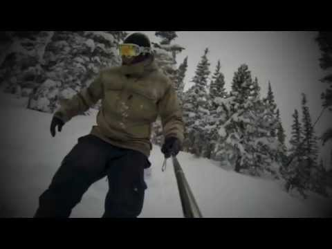 Snowboarding Brian's Glades in Nederland, Colorado