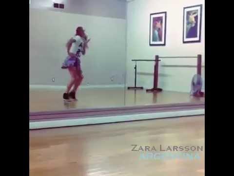 Zara Larsson bailando Crazy in love