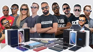Which SMARTPHONES Do We Use? - YOUTUBER Edition with MKBHD, iJustine, Austin Evans + More