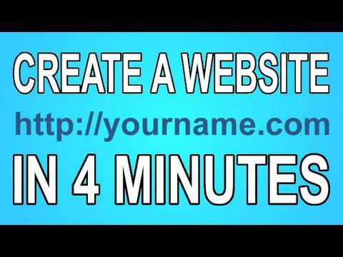How to Make a Website in Four Minutes