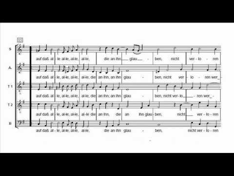 Heinrich Schütz - Also hat Gott die Welt geliebt, SWV 380