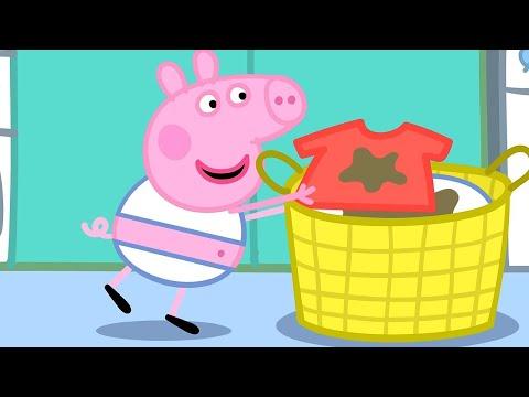 Свинка Пеппа на русском все серии подряд 🧺 Стирка    Мультики