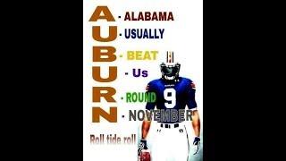 Alabama vs Auburn  ..  2017 Iron Bowl . Roll Damn Tide !! Woooooooooo!!