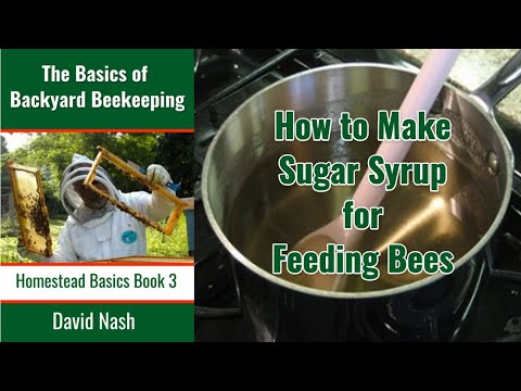 Sugar Syrup for Beekeeping