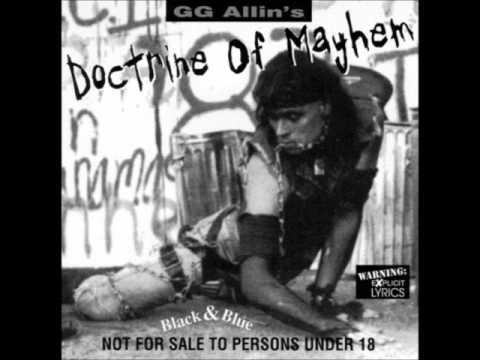 Gg Allin - Darkness & A Bottle To Hold