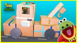Construction Tow Truck Box Fort Challenge!