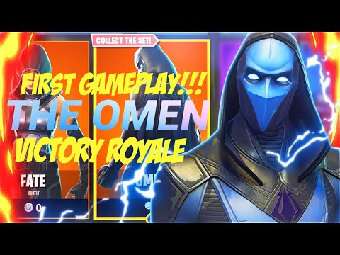 The OMEN !!! First official Gameplay (BEST Fortnite Battle Royale Skin) OUT NOW!!! Victory Royale thumbnail