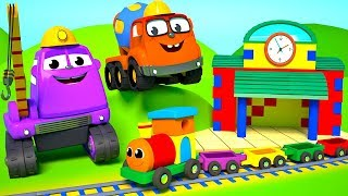 FRIENDS ON WHEELS EP 7 - THE MIGHTY MACHINES ARE BUILDING A TRAIN STATION