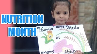 poster making nutrition month 2019 water color