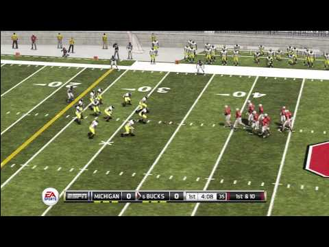 EA SPORTS NCAA Football 12 BROADCAST CAMERA GAMEPLAY: Michigan vs Ohio State