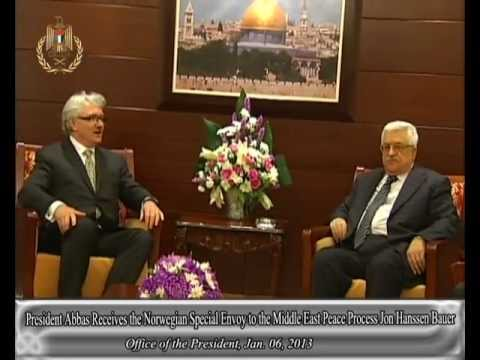President Abbas Receives Norway's  Envoy to the Middle East Peace Process Jon Hanssen Bauer