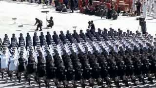 Chinese Female Soldiers (slow motion)