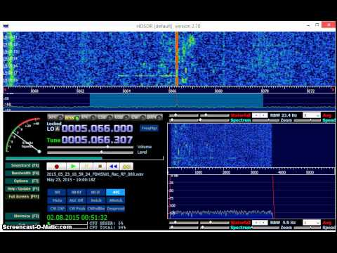 Radio CANDIP 5066 kHz received in Germany on Elad FDM-S2