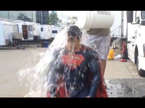 Batman And Superman Do Ice Bucket Challenge For ALS 2014