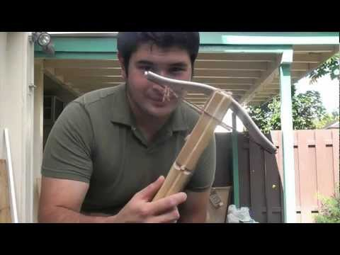 Shooting a Simple 40 Pound PVC Pistol Crossbow