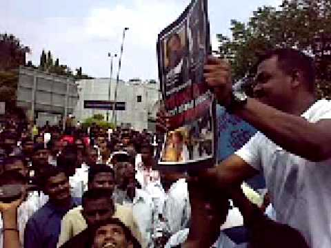 Malaysians demonstrate against Sri Lanka & India Genocide of Tamils - Cherrupu Poojai Part 2