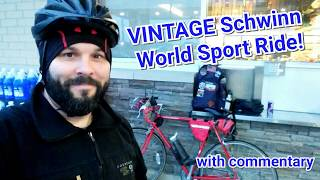 VINTAGE Schwinn World Sport Road Bike! Short Ride + Commentary