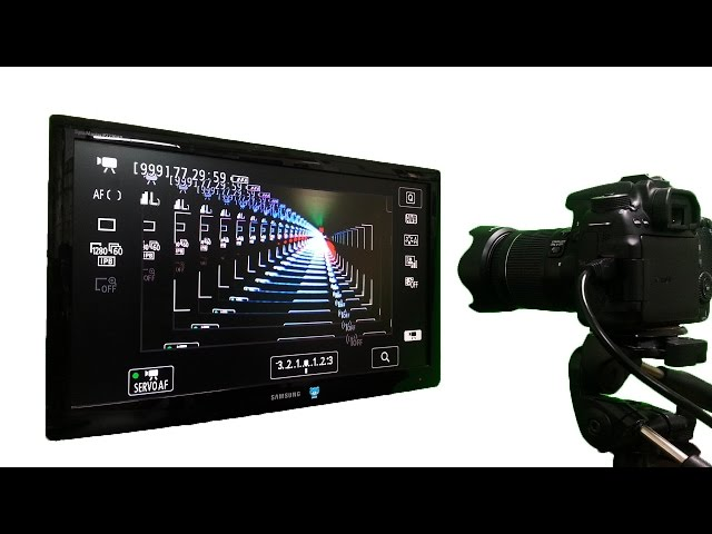 Fantastic harmony of camera and monitor !! - Infinity effect