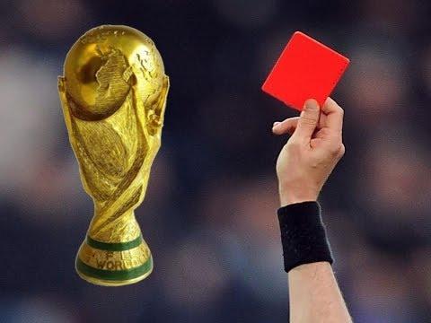 أشهر البطاقات الحمراء في كأس العالم  | BzaFFort