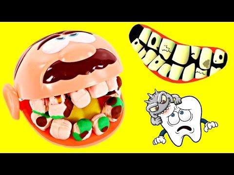 Vamos al Dentista y Arreglemos esas Caries Con el Doctor Drill n' Fill 😁 Dientes Play Doh