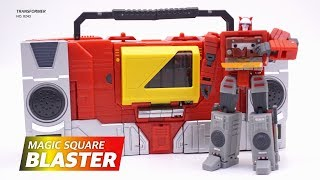 Transformers Magic Square BLASTER! 3rd party legend class Video Review!