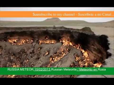 Cae Meteorito en Rusia Impresionante Lluvia de Meteoritos 15/02/2013