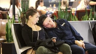 Falling Asleep on People at the Airport