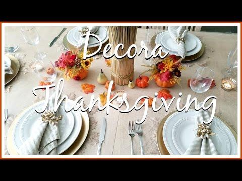 Ideas para decorar tu mesa en THANKSGIVING o ACCION DE GRACIAS ♦ consaboraKaFé