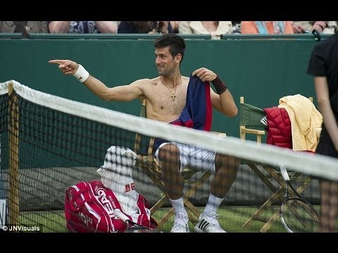 Djokovic and Dimitrov Imitate Sharapova, Redfoo Plays US Open Qualifier