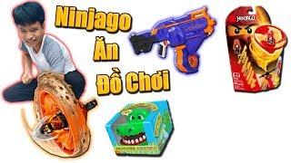Tony   Thử Thách NINJAGO Ăn Đồ Chơi - Ninjago Get Toys