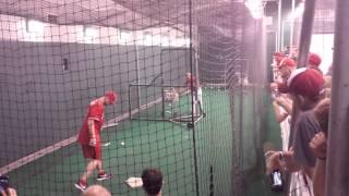 2013-08-23 Reds Batting Cage w/ Zack Cozart