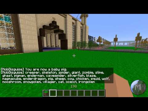 [Minecraft Reviews] Mob Disguise Bukkit Plugin.