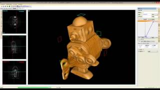 Robot (a windup toy):3D slices movie