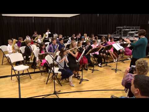 Santiam Christian School's Fifth and Sixth Grade band at Grandparent's Day 2012