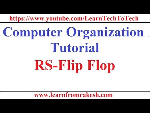 Computer Organization Tutorial #15: RS-Flip Flop with Characteristic Table
