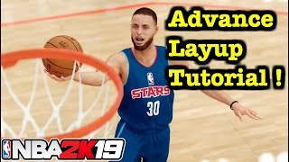 NBA 2K19 Layup Tutorial : Europstep , reverse jelly layup , hop step , floaters. How to Finish #6