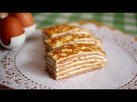 """Закусочный торт """"ЗЕБРА"""". Когда ОЧЕНЬ ВКУСНО!"""