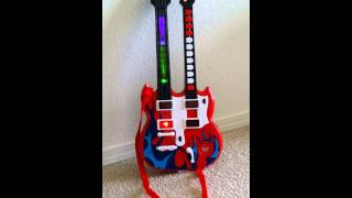 Double Neck Flaming Toy Guitar Music