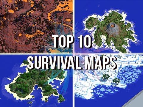 Jeracraft\'s Top 10 Survival Maps & Islands! - YouTube