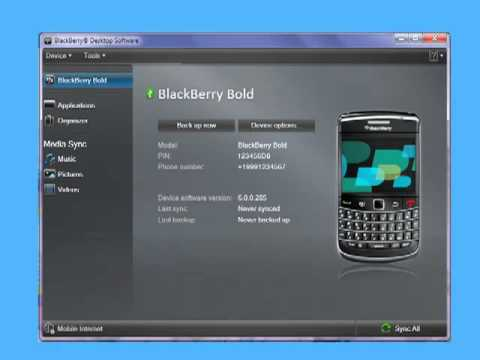Restoring BlackBerry smartphone data using BlackBerry Desktop Software 6.0 for PC