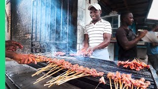 Street Food in Madagascar's Biggest City!!! Zebu Meat Heaven!