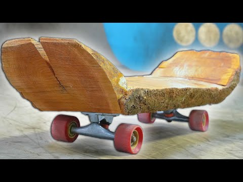 THE WOODEN LOG SKATEBOARD?! YOU MAKE IT WE SKATE IT