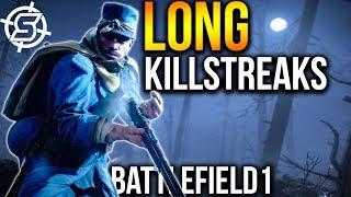 HUGE SNIPER KILLSTREAKS   Battlefield 1 Scout Gameplay