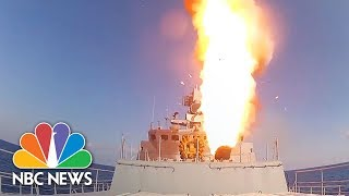 Russia Fires Cruise Missiles At ISIS Targets In Syria | NBC News