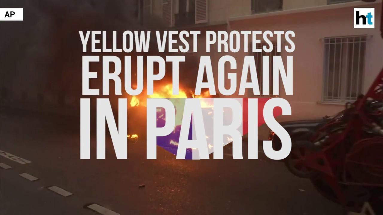 'Yellow Vest' protest erupts again in Paris