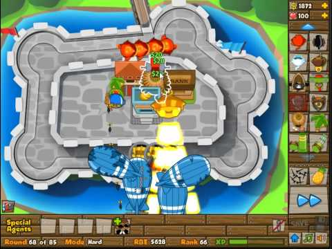 BTD5 Track 8 (Castle) Hard NLL Walkthrough (No Roadspikes needed)