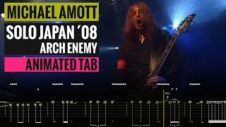 Michael Amott Solo (Incl  Intermezzo Liberte) Japan 08 - Animated Tab